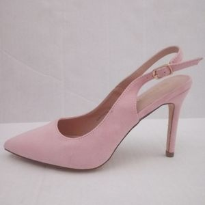 Dream Pairs Pink Suede Slim Pointed Toe Heels 8.5